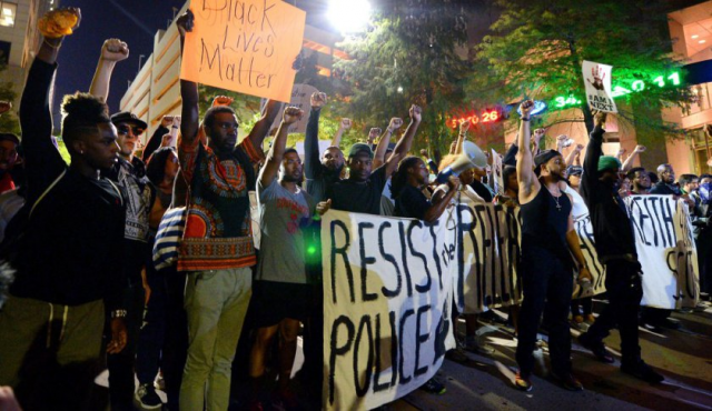 Charlotte protests continue, with plans to blockade Sunday's Panthers game.
