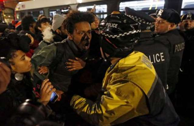 Chicago protesters battled police Nov. 25, 2015
