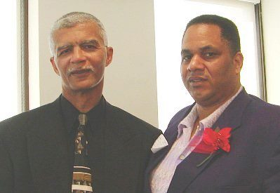 The late Mayor of Jackson MS. and Detroit native Chokwe Lumumba, with Cornell Squires at federal court appeals hearing.