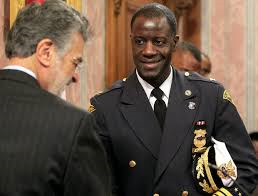 Cleveland Police Chief Calvin Williams sworn in by Mayor Frank Jackson Feb. 2014