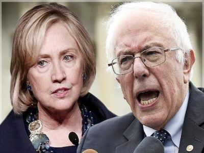 Hillary Clinton and Bernie Sanders agree on U.S. war agenda in Syria, Middle East.