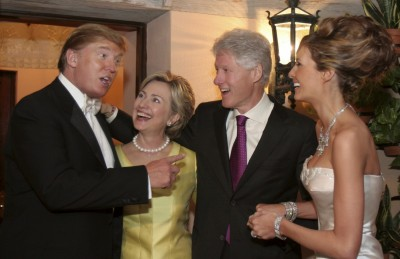 Clintons at Trump wedding reception.