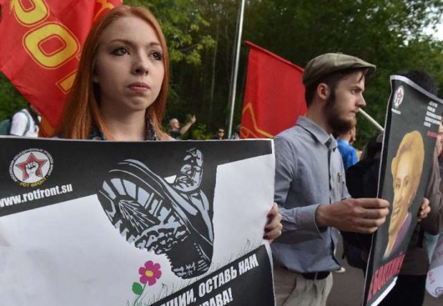 Provided by AFP: This week, while barring a rally organised by [anti-Soviet] Mikhail Shneider, Moscow authorities sanctioned a Communist demonstration and former Soviet officials were shown on state TV voicing nostalgia for the repressive regime This week, while barring Shneider's rally, city authorities sanctioned a Communist demonstration and former Soviet officials were shown on state TV voicing nostalgia for the repressive regime.