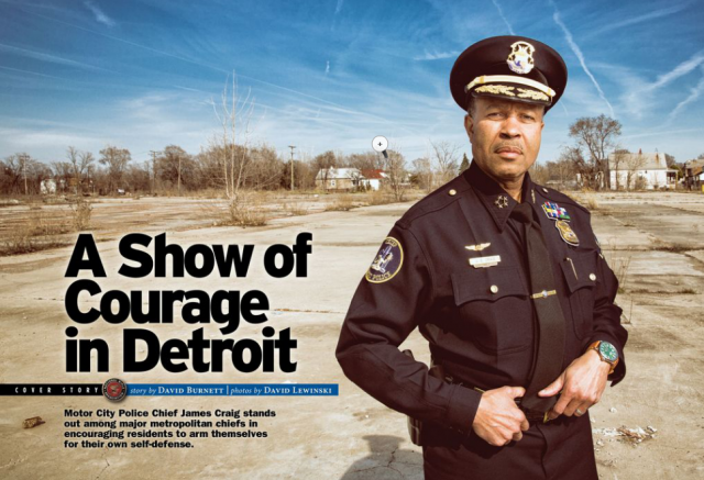 Detroit Police Chief James Craig was celebrated in the June, 2014 issue of the NRA's America's First Freedom magazine.