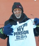 Hands off My Pension T-shirts sold by DAREA for $10.