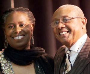 Cynthia McKinney with Rev. Edward Pinkney in Benton Harbor, 2011