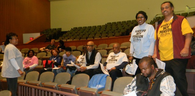 DAREA members settle in to confront Detroit City Council March 22, 2016.