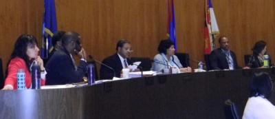 Detroit City Council members hear DAREA demands.