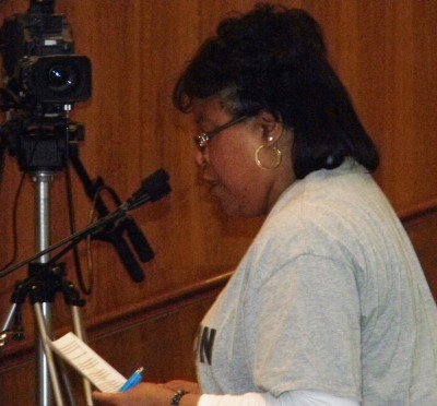 DAREA member brings rousing close to presentation. City Council meetings are seen on TV across Detroit, making them a perfect forum to reach out to the people.