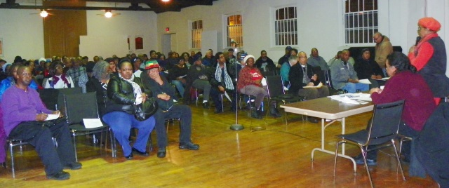 Packed DAREA meeting Jan. 21, 2015 at St. Matthew's and St. Joseph's Episcopal Church in Detroit.