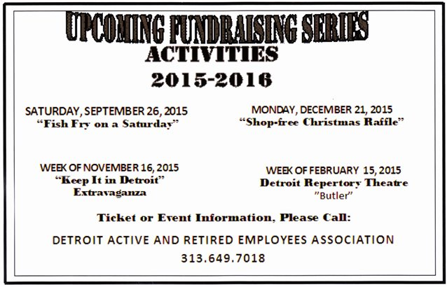 UPCOMING DAREA FUNDRAISERS.