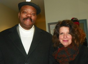 Detroit Board of Education members LaMar Lemmons and Elena Herrada.