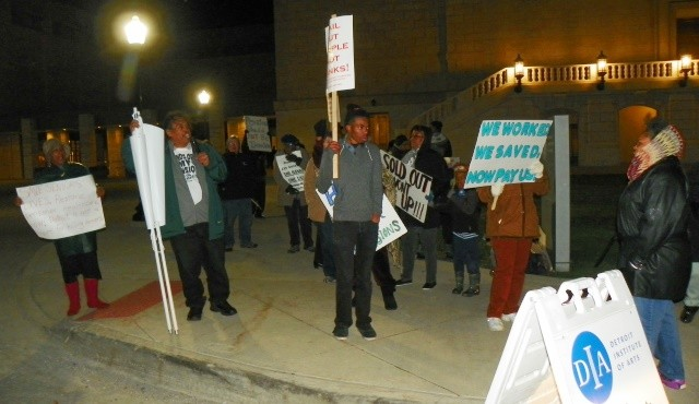 Outside DIA Nov. 19 protesters harassed wealthy attendees.