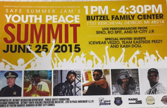 Ironically, the DPD sponsored this Summit calling for safety of Detroit's children the day the Jackson children died, and the others were injured as a result of dangerous police chase.