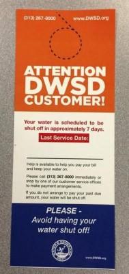 DWSD door hanger