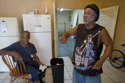 David Solomon and Calvin Wilson, who lived with Sterling at shelter, said they did not believe he carried a gun. Photo: The Advocate