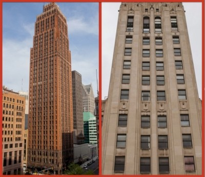 David Stott and Free Press buildings, purchased by Emre Uralli in 2013, then eventually by Dan Gilbert in 2014.
