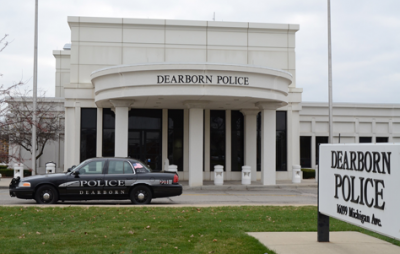 Dearborn police station where Yvette Johnson was held.