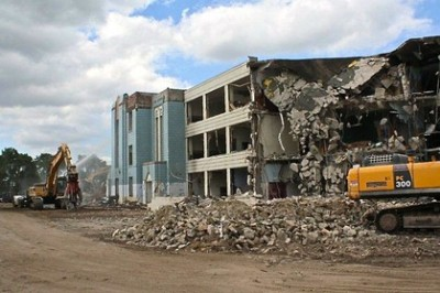 Demolition of Mumford High School, contracted out to Walbridge Aldinger, whose CEO John Rakolta is a close ally of Gov. RIck Snyder.
