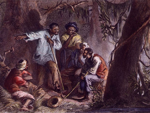 Painting shows Denmark Vesey planning rebellion.