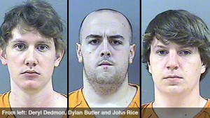 Deryl Dedmon, Dylan Butler, John Rice, killers of James Craig Anderson in Jackson, MS, 2011