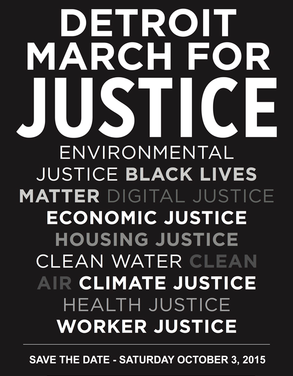 Detroit March for Justice graph