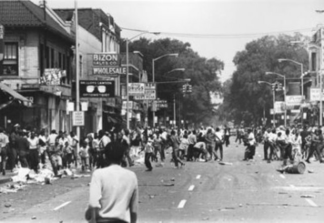 Part of massive Detroit rebellion against racist police in 1967.
