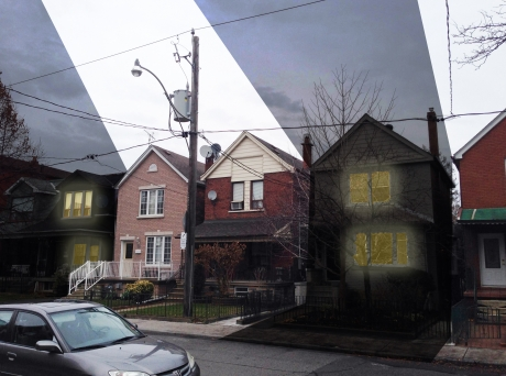 Detroit Houses delinquent on property taxes have sunlight turned off.