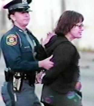 Diane Bukowski under arrest Nov. 6, 2008.