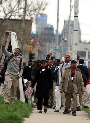 Douglass Academy students walkout over school conditions 2012.