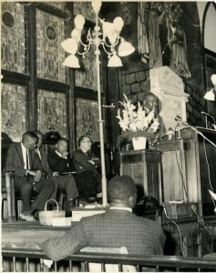 Dr. Martin Luther King, Jr. speaks at Emmanuel AME in 1962.