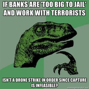 Drone strike on banks