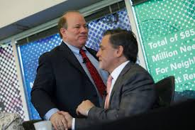 "Buddies in white-out of Detroit:  ""Mayor"" Mike Duggan, billionaire Dan Gilbert"