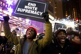 Protest in NYC after grand jury exonerated police killers of Eric Garner.