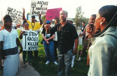Deaf community joined with DCAPB to protest David Krupinski's killing of Errol Shaw, Sr. in 2000.