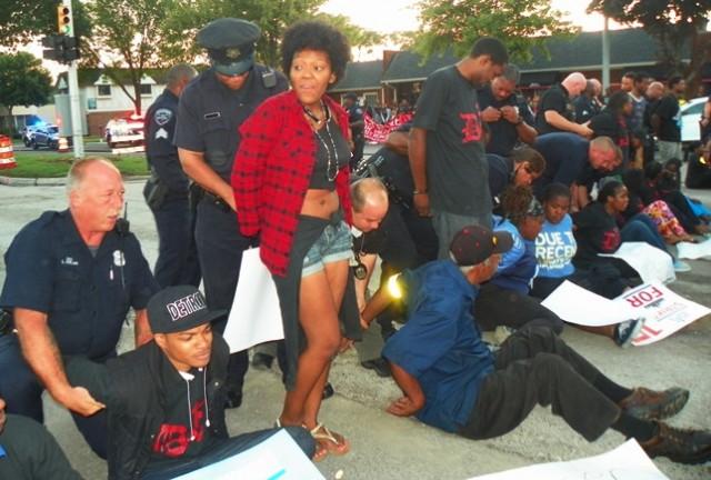 Arrests in Detroit Sept. 4, 2014.