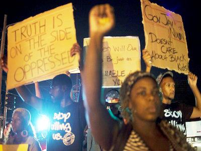 Ferguson protesters: Stop killing us!