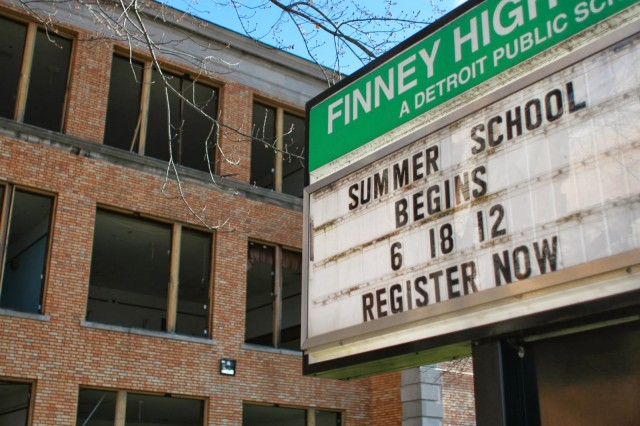Finney High School, closed in 2009 at a cost of $2.9 million from 1994 bond, replaced later by East English Village Academy at a cost of $58.6 million from 2009 bond.