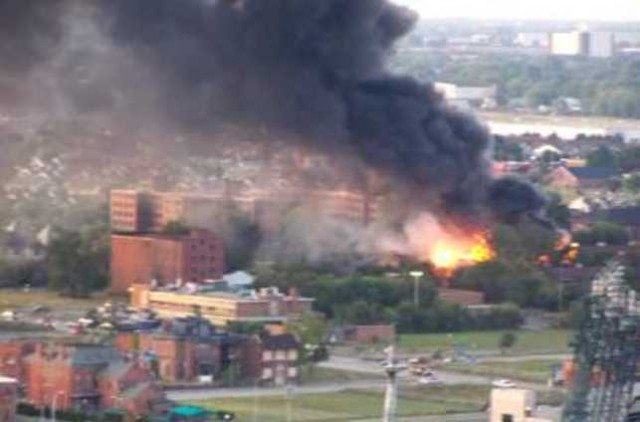 Fire in Brush Park