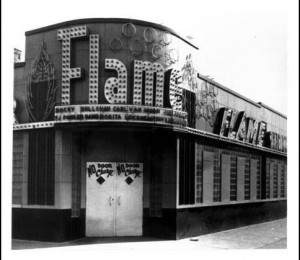 Flame Show Bar in Paradise Valley. Black business district was wiped out by construction of 1-75 freeway though its heart.