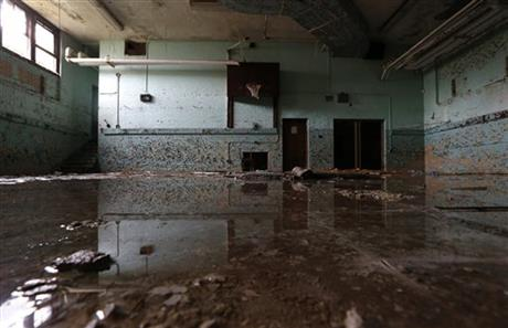 Crosman Elementary School's flooded basement in Detroit, August, 2014.