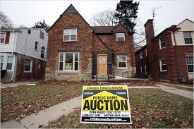 Foreclosed home in Detroit.