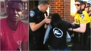 Freddie Gray, spine severed April 12, 2015; dead April 19, 2015.