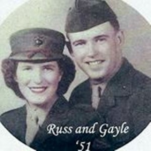 Gayle and Russell Robinson; she met her husband at the age of 17 and joined the Marine Corps to be with