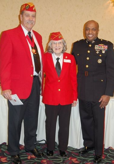 Gayle Robinson with friends at Montford Post Marine Corps Black History month celebration, 2010.