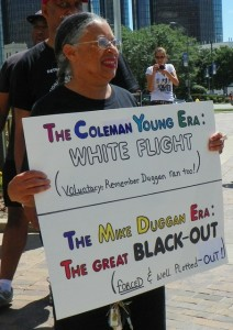 Protester at July 15 rally.