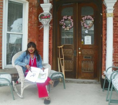 Gwen Mingo, still at home in Brush Park.