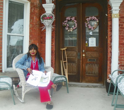 Gwen Mingo at home in Brush Park.