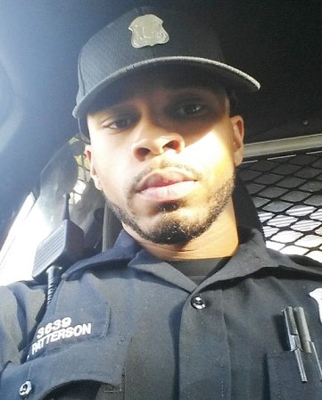 Hakeem Patterson, one of three cops in car that allegedly hit Lorenzo Harris' car in high-speed chase, killing the Jackson children June 24, 2015. Facebook (photos of others were not available).