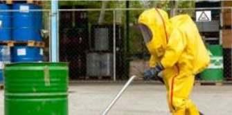 Hazardous waste worker